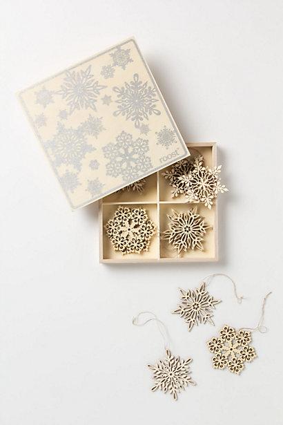 Santa Lucia Snowflake Set - Anthropoligie