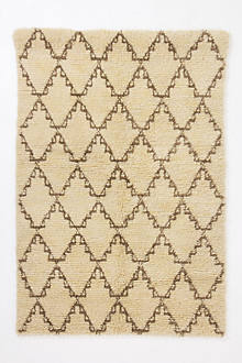 Crossed Flokati Round Rug