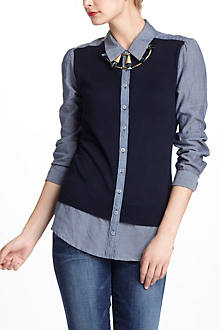Sweater-Front Buttondown