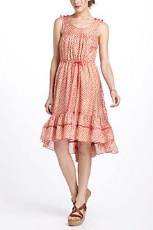 Papaya Plaid Dress