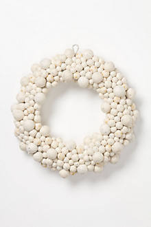 Snow Pearls Wool Wreath