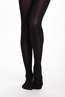 Opaque Chevron Stripe Tights