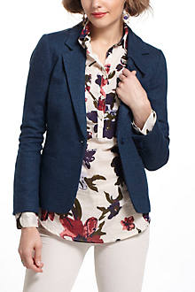 Pleated Collar Blazer
