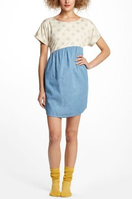 Dots & Chambray Shirttail Chemise