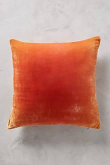 Rose Ombre Velvet Pillow