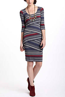 Striational Column Dress