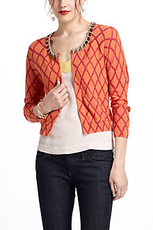 Lattice-In-The-Rough Cardigan