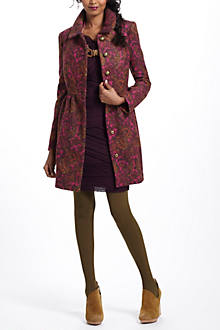 Plum Paisley Coat