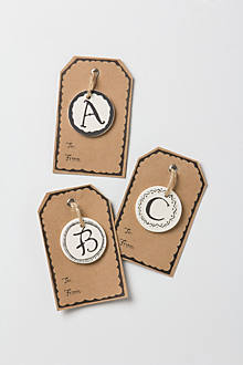 Ceramic Monogram Gift Tag