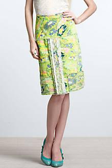 Wasabi Floral A-Line Skirt