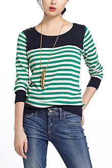 Stripeblocked Sweater
