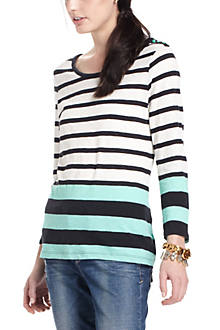 Striped Slub Pullover