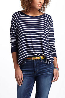 Striped Jersey Scoopneck