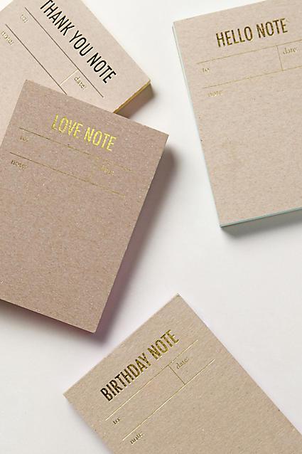Cute letterpress notepads