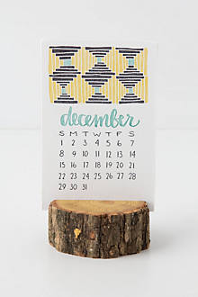 Wood Stump Calendar