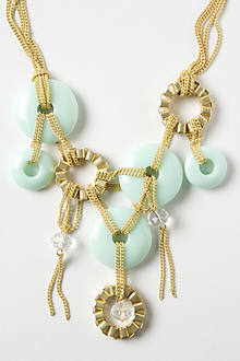 Chained Discs Bib Necklace