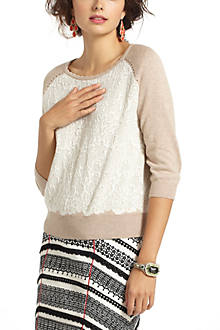 Jacquard Lace Pullover