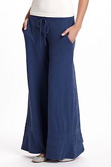Slub Jersey Wide-Legs