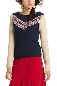 Pompom Intarsia Sweater