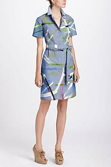 Blue Studio Shirtdress