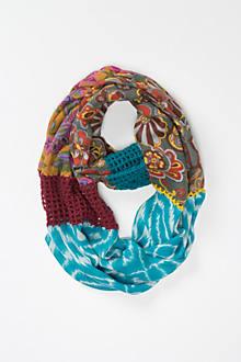 Crochet Spliced Infinity Scarf