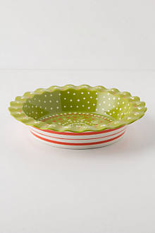 Folk Flora Pie Dish