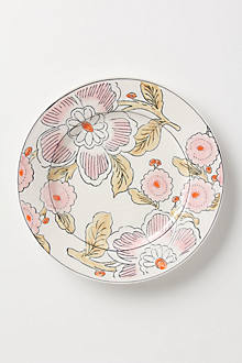 Illustrated Sakura Dinner Plate