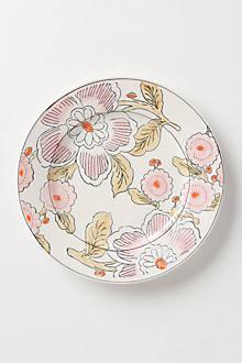 Illustrated Sakura Dinner Plate