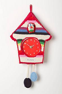 Hand-Crocheted Cuckoo Clock