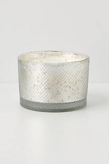 Etched Mercury Jar Candle