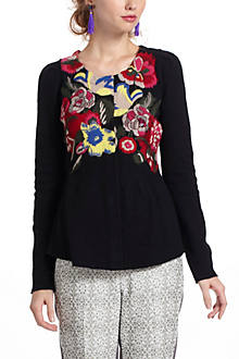 Techniflora Embroidered Cardi