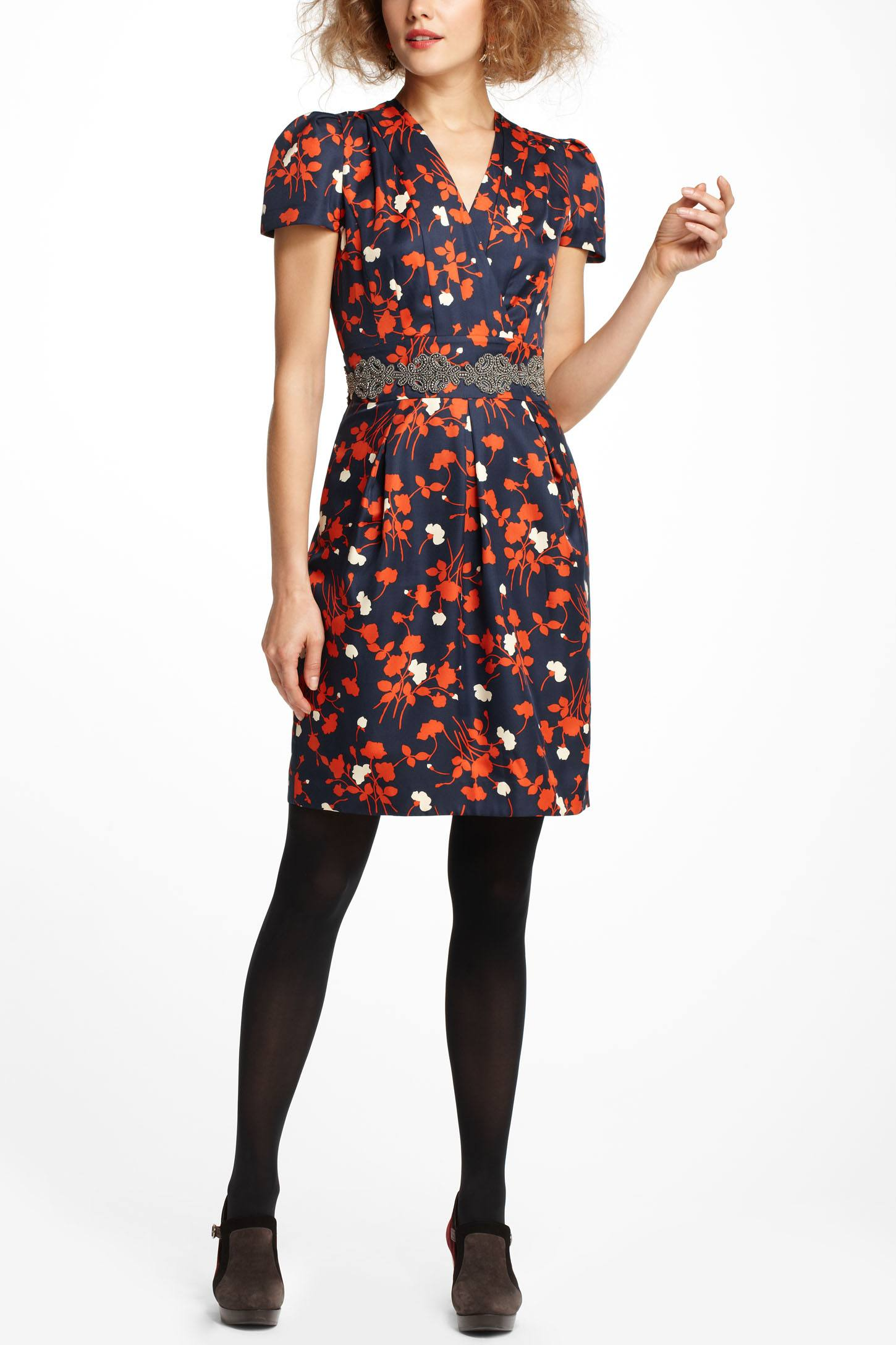 Hi There by Karen Walker Tossed Bouquet Dress - how to wear floral prints to work - professional floral print dress