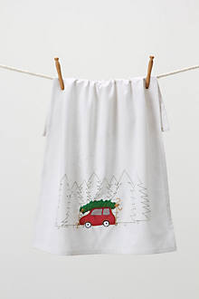 Tree Hunt Dishtowel