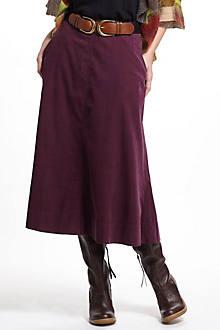 Fine Wale Cord Skirt