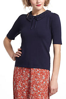 Lacy Collar Pullover