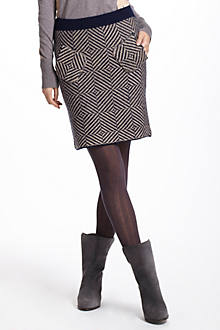 Gridslant Sweater Skirt