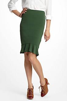 Flounced Hem Skirt