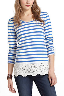 Skirted Striped Tee