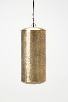 Clipped Brass Pendant Lamp
