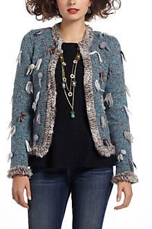 Split Pompom Sweater