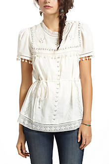 Glinted Peasant Blouse