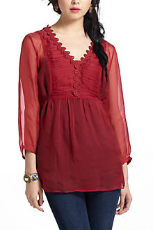 Misha Ruched Peasant Blouse