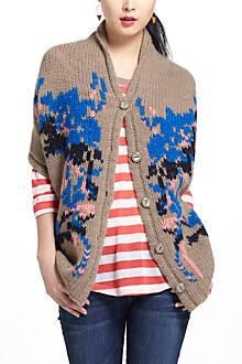 Lucia Delphinium Shawl Sweater
