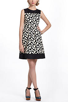 Notched Dots Cord Dress