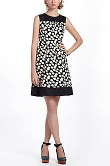Notched Dots Cord Dress