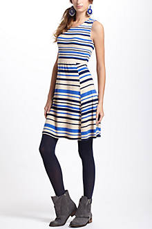 French Stripes Sweater Dress