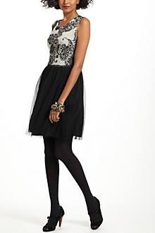 Flocked Sable Dress