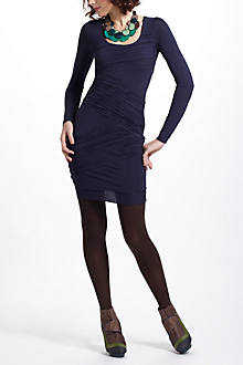 Shirred Column Jersey Dress