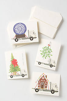 Happy Holidays Truck Cards