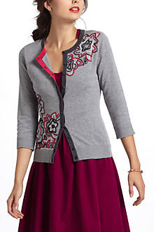Embroidered Azalea Cardigan